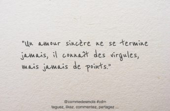 citation amour sincère