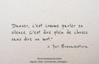 citation danser