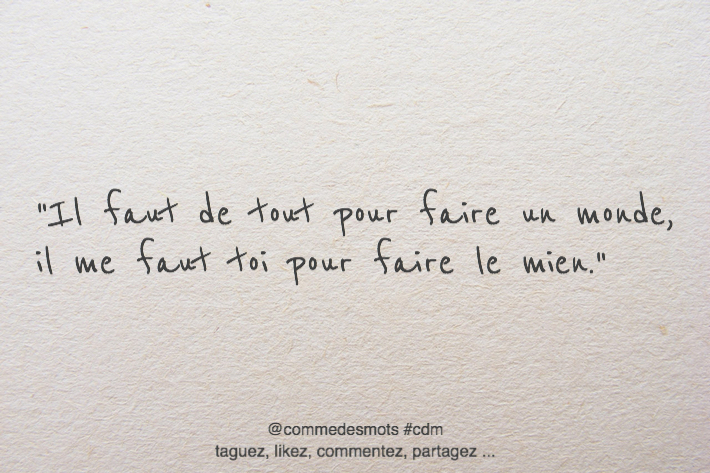 citation faire un monde