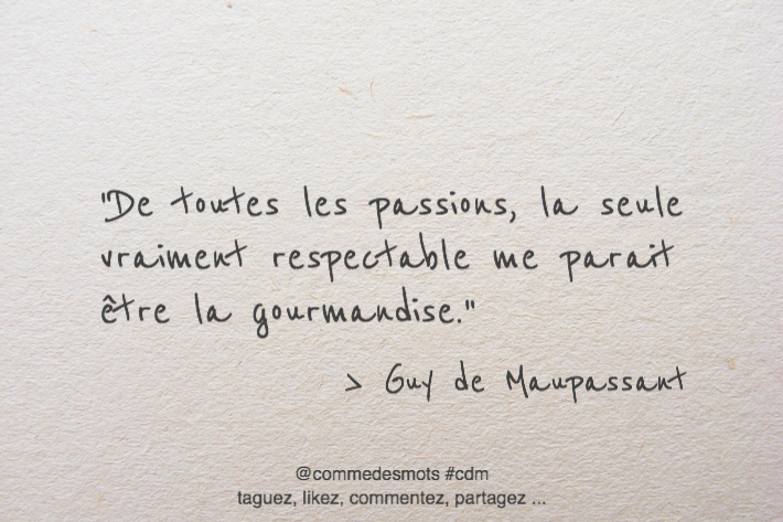 citation gourmandise
