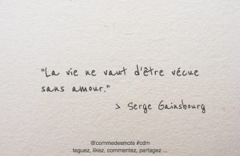 citation la vie, l'amour