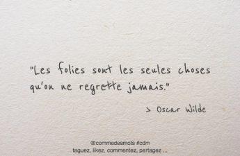Les folies d'Oscar Wilde
