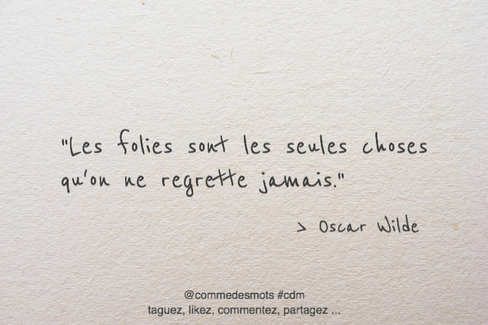 citation les folies