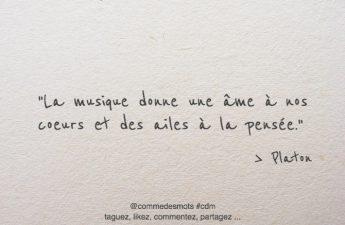 La musique donne une âme à nos cœurs