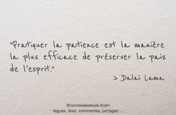 citation patience / paix