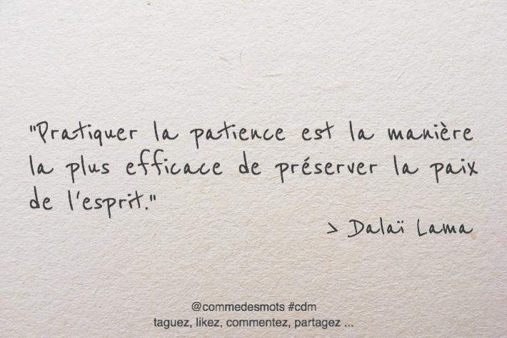citation patience / paix