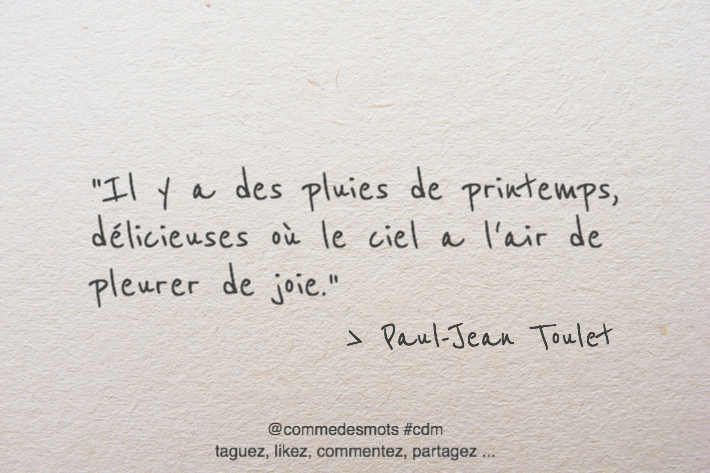 citation pluies de printemps