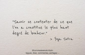 citation se contenter