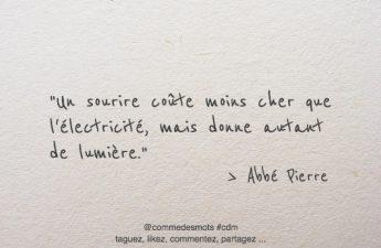 Un sourire coûte moins cher que l'électricité
