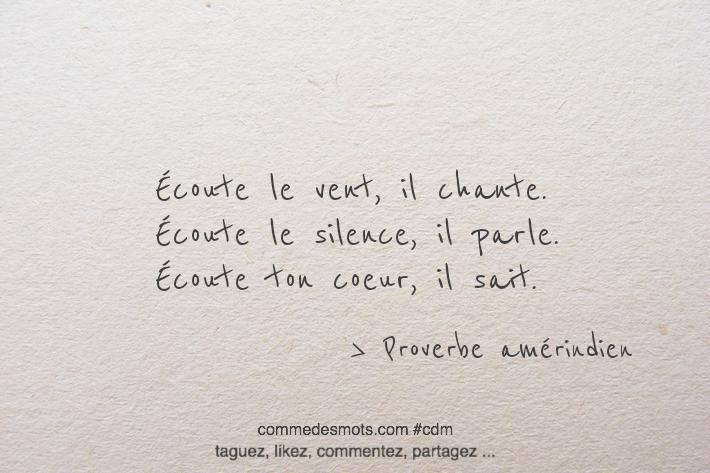 ecoute avec ton coeur