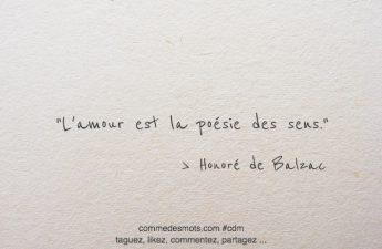 L'amour est la poésie des sens.