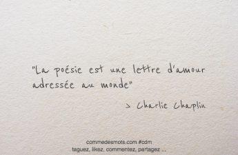 La poésie est une lettre d'amour