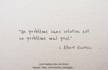 Un problème sans solution