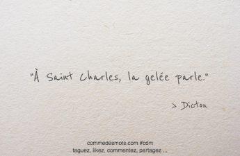À Saint Charles