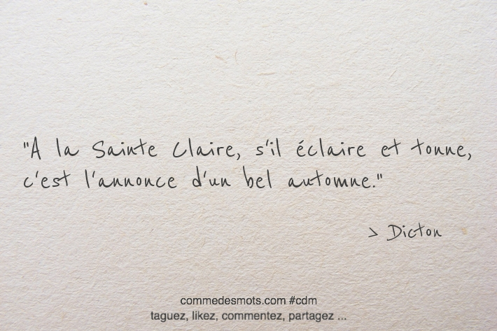 A la Sainte-Claire
