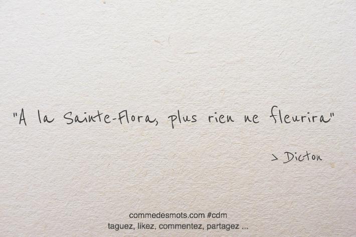 À Sainte-Flora