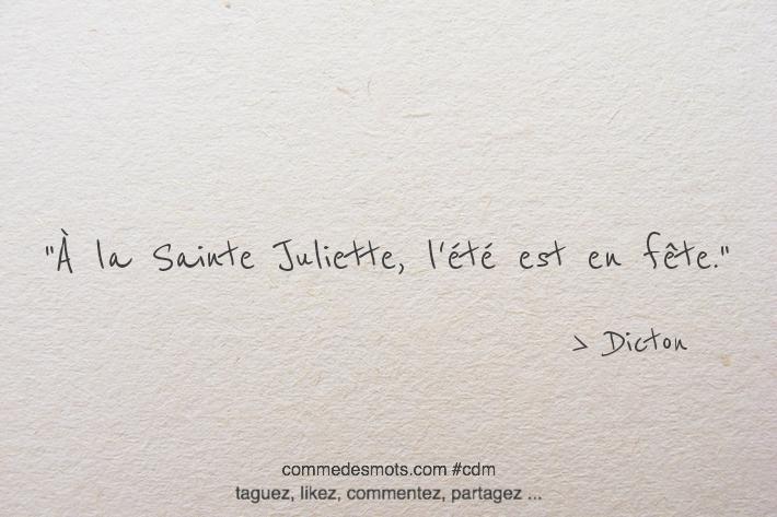 À la Sainte Juliette, l'été est en fête.