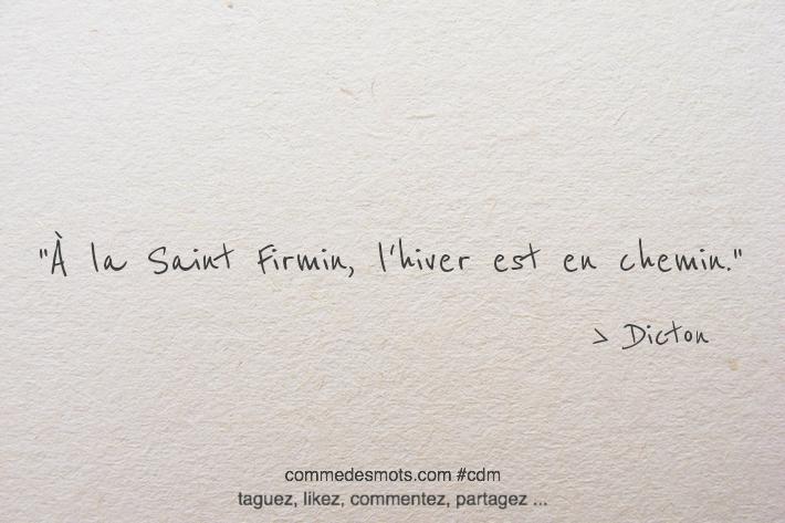 À la Saint Firmin