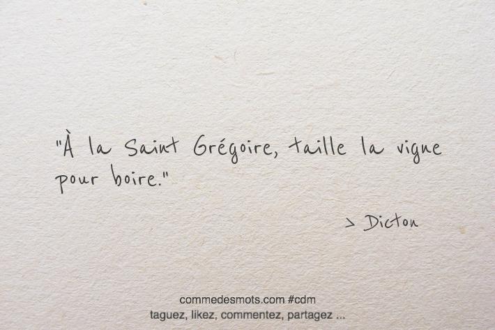 À la Saint Grégoire