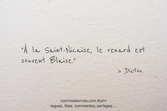 À la Saint-Nicaise