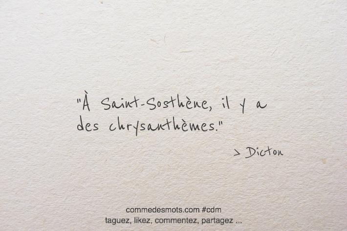À Saint-Sosthène