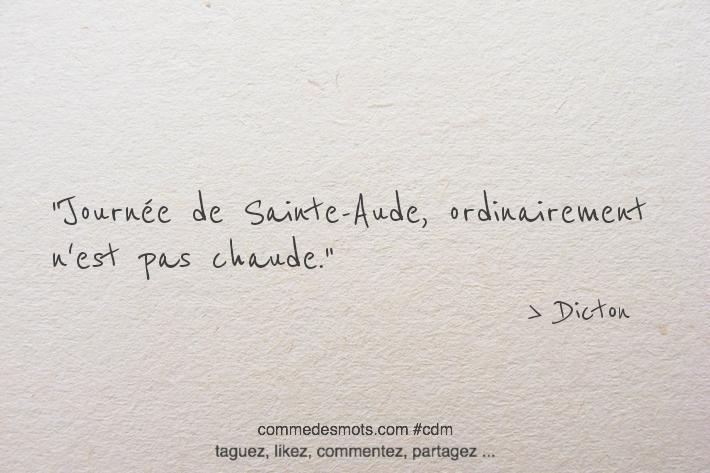 Journée de Sainte-Aude