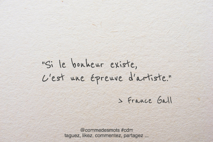 citation de France Gall