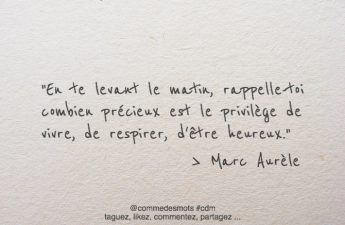 citation de Marc Aurèle