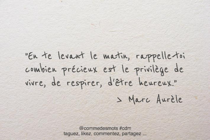 citation de Marc Aurèle